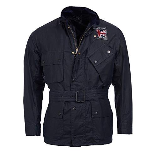 Barbour International Steve Mcqueen Joshua Wax Jacket Navy-M