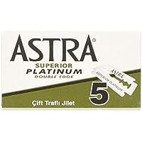 Astra Platinum Hojas de afeitar de doble filo (inoxidable), 20 cajas de 5 hojas