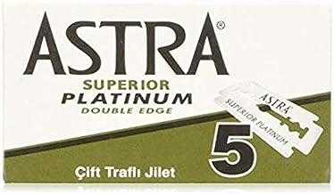 Astra Superior Platinum Double Edge Razor Blades - 20 packs of 5 (100 Blades)