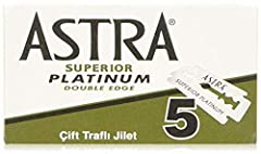Astra Platinum Double Edge Safety Razor Blades , 100 Blades (20 x 5) Astra Platinum Double Edge Safety Razor Blades , 100 Blades (20 x 5) Astra Platinum Double Edge Safety Razor Blades , 100 Blades (20 x 5)