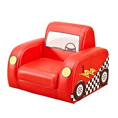 LLTT-sillon infantil Sofá para NiñOs SillóN para NiñOs Sleeper Asiento Reclinable Muebles Individuales Reclinador para NiñOs Mini Sofá para BebéS Silla para NiñOs-Rojo 50x45x40cm