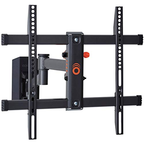 """ECHOGEAR Full Motion TV Wall Mount for TVs Up to 58"""" - Smooth Extention, Swivel, Tilt - Wall Template for Easy Install On 1 Stud - After Install Level & Hide Cables with Built-in Cable Management"""