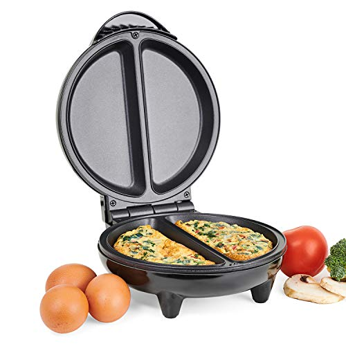 Emperial Deep Fill Omelette Maker – Dual Electric Multi Cooker for Omelettes, Fried & Scrambled Eggs with Easy Clean Non-Stick Pan for Healthy Cooking