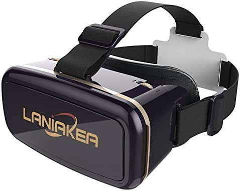 Virtual Reality Headset 3D VR Glasses by LANIAKEA – High Definition Optical Lens, Fully Adjustable Strap, Focal and Object Distance – Perfect VR Headset for iPhone, Samsung and Any Phones 3.5