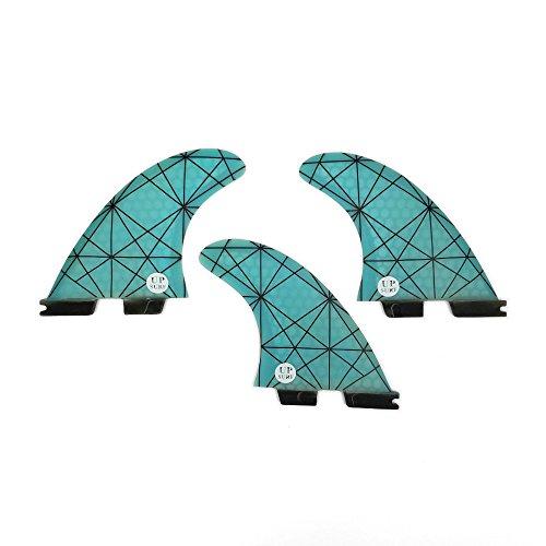 UPSURF Tabla de Surf FCS2 Aletas G5 Tres Aletas Panal+Fibra de Vdrio (Blue G5)