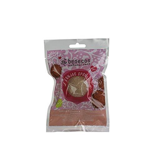 Benecos Esponja Konjac Arcilla Roja Pieles Delicadas 1 Unidad 100 g