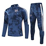 QJY Equipo de fútbol de Arsenal Traje de Entrenamiento de Manga Larga Media Cremallera Camisa + Pantalones 2 Piezas Fitness Sportswear Traje (Size : S)