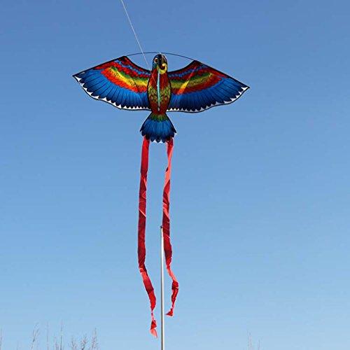 Kofun Parrot Aquilone Uccelli Aquiloni Aquiloni all'aperto Giocattoli volanti Aquilone per bambini Bambini Perfetto Natale Giocattoli di compleanno Regalo per bambini 1 Pezzo Colori a caso