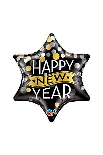 Unbekannt Ballon Gonflable Qualatex étoile Happy New Year, env. 56 cm.