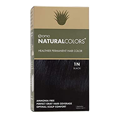 ONC NATURALCOLORS (1N Black) 4 fl. oz. (120 mL) Healthier Permanent Hair Dye with Certified Organic Ingredients, Ammonia…