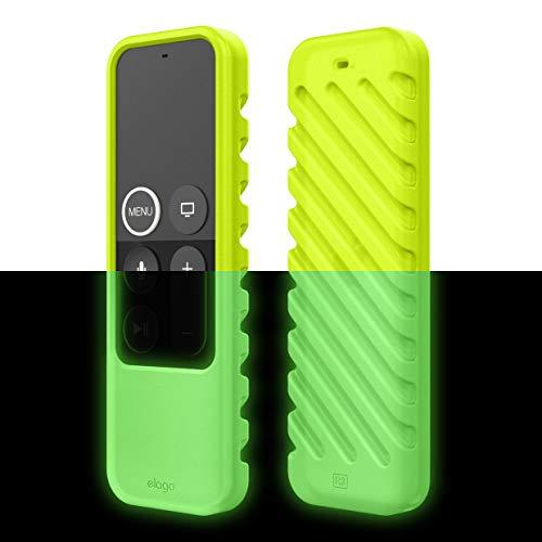 elago R3 Fernbedienung Hülle Case Kompatibel mit Apple TV Siri Remote 4K (5.) / 4. Generation Schutzhülle - Extra Schutz, Handgelenkschlaufe Inbegriffen (Neongelb)