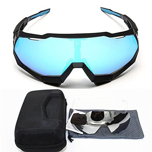 Afang UV 400 Gafas,  Corriendo Moto MTB Bicicleta Montaña Camping Actividades Aire Libre Hombres Mujeres Gafas Sol Polarizadas 100% Protección UV, F