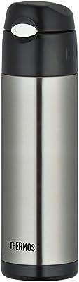 THERMOS vacuum insulation straw bottle 0.5L stainless black FFI-500 SBK