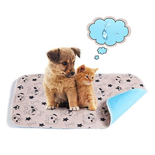 YOUTHINK Toallitas de Empapadores Perros, Lavado a Máquina y Reutilizable Pet Pee Pad, Jabones de Entrenamiento para Pañales para Perros con Función Antideslizante, Adecuados para Cachorros y Gatos
