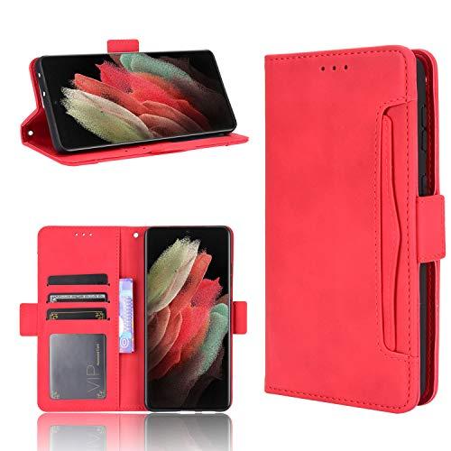 SHIEID para ASUS ROG Phone 5 Funda [Cierre Magnético] Carcasa de Cuero PU Cartera Billetera [Soporte]+[Tarjetas Ranuras] Funda para ASUS ROG Phone 5, Rosado