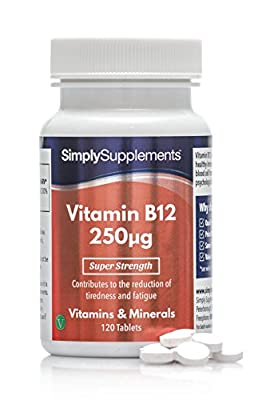 SimplySupplements Vitamin B12 250mcg|For Normal Brain Function|120 Tablets by Simply Supplements