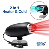 Car Heater 12V, Portable Auto Electronic Heater Fan Fast Heating Defrost 150W Car Defrost Defogger, 2 in 1 Heating/Cooling Function (red1)