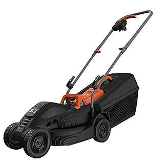 scheda black+decker tagliaerba elettrico ampiezza taglio 32 cm, capacità di raccolta 35 litri, impugnatura ergonomica 1000 w, bemw351-qs