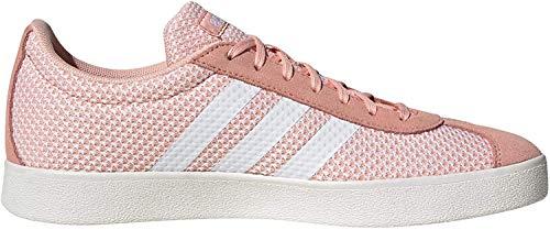 adidas Damen VL Court 2.0 Sneaker, Pink (Glow Pink/Footwear White/Cloud White 0), 39 1/3 EU