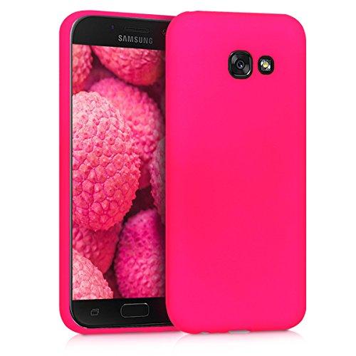 kwmobile Cover Compatibile con Samsung Galaxy A5 (2017) - Custodia in Silicone TPU - Backcover Protezione Posteriore- Rosa Shocking