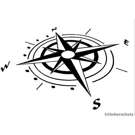 Generic Kompass Aufkleber In 20x20cm Oder 30x30cm Windrose Aufkleber Für Caravan Wohnmobil Wohnwagen Auto Oder Als Wand Tattoo 94 3 30x30cm Silbergrau Glanz Garten