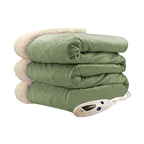 Biddeford Blankets Micro Mink Sherpa Electric Heated Blanket...