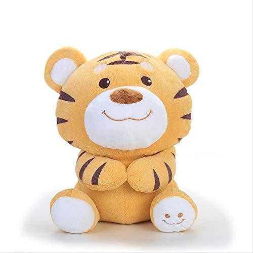 Zking Mignon Petit Tigre en Peluche Jouet 30 Cm, Poupée pour Enfants Poupée Happy Tiger Tissu Poupée Oreiller Femelle Cadeau d'anniversaire Bébé