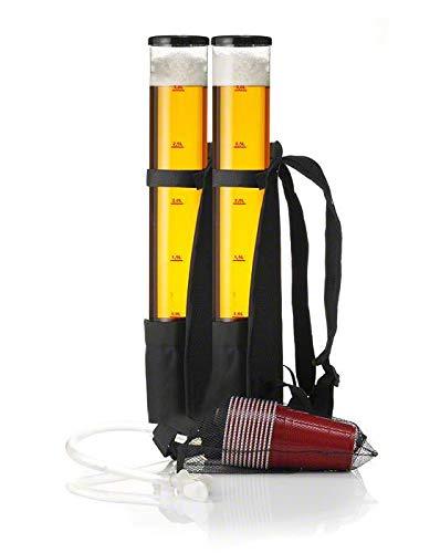 Original Cup - Bierspender Rucksack, 2 x 3L Behälter, Getränkerucksack für Erfrischungsgetränke, Soda, Wein, Bier, Schnaps, Tragbare Biermaschine, Bier Jetpack