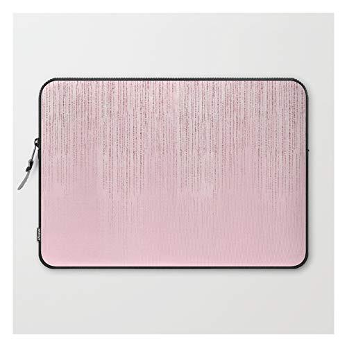Laptop Sleeve - Laptop Sleeve - 15' - Glamorous Blush Pink Girly Glitter by Pink Water