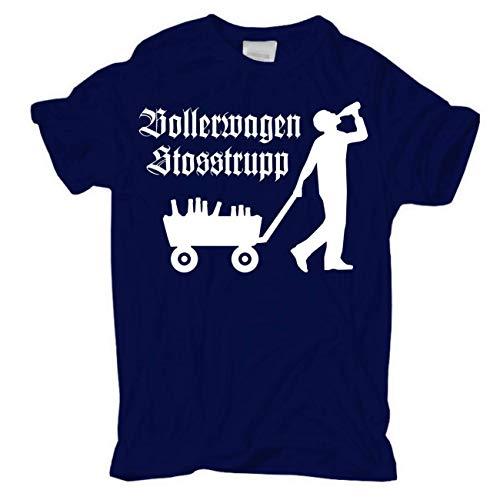 Männer und Herren T-Shirt Bollerwagen Stosstrupp Größe S - 8XL