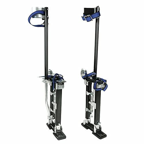 VOWAGH Adjustable Black Drywall Stilts 18-30 Inch Professional Grade Aluminum Tool Stilt for Painting Painter Taping