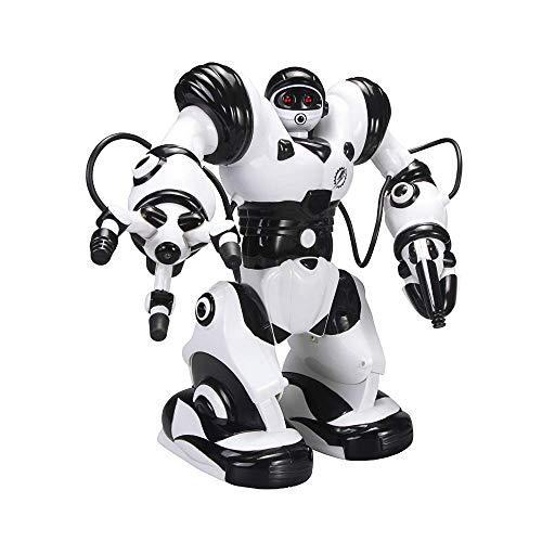 MJYY Giocattoli Educativi All'Aperto , Robot Rc Telecomando Robot Intelligente Programmazione Intelligente Rilevazione Gesti Robot, Danza Cantando Camminando Giocattolo Rc con Batteria Ricaricabile p