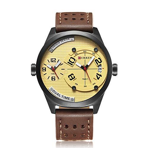 DAZHE Armbanduhr Curren Quarz-Uhren, CURREN8252 Herren Sportuhr Herren Military Kalenderuhr (Color : 1)