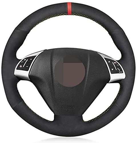 HZHAOWEI Cubierta Negra para Volante de Coche, para Fiat Grande Punto Bravo Linea 2007-2019 Qubo Doblo, para Opel Combo Vauxhall Combo 2012-2017-Blue Thread