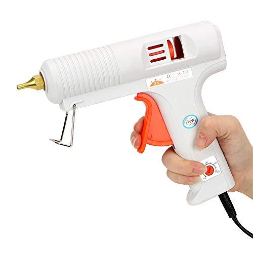 SHCOE 110W High Professional Hot Melt Glue Gun con la Temperatura Ajustable y la Boquilla sin Goteo para artesanías DIY Arts, reparación de la casa