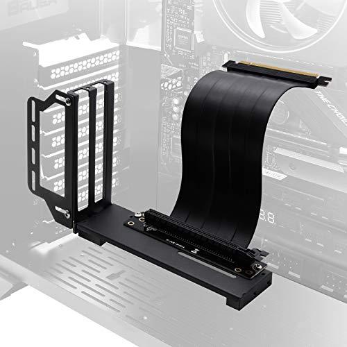 EZDIY-FAB Halterung für vertikale Grafikkartenhalter, GPU-Halterung, Grafikkarten-VGA-Support-Kit mit 20 cm PCIE 3.0-Steigkabel