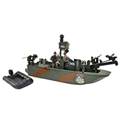 Playset includes two realistic 1/18 scale figure that can stand alone. The figures are fully poseable with naturalistic articulation and removable helmet Includes an two pieces of weaponry and an inflatable dingy boat for more realistic imaginary pla...