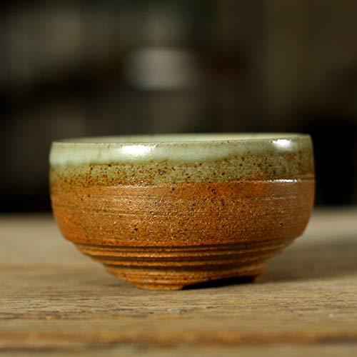 Yizi Pottery Kung Fu Tea Bowl Taza De Té De Cerámica Cerámica Antigua Antiguo Japonés RU Porcelana Flujo Glaze Pu'Er Taza De Té Pequeño Cuenco De Té Juego De Té Hecho A Mano Platillo