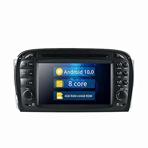 ROADYAKO 6.2Inch Indash Android 10.0 Unidad Principal Reproductor de DVD para automóvil para Benz SL R230 2001 2002 2003 2004 Auto Radio Navegación GPS para automóvil Estéreo 4G WiFi RDS SWC