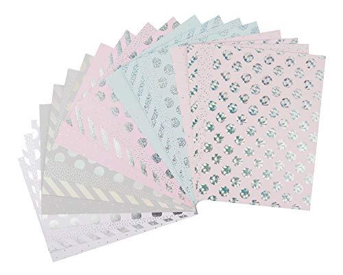Rico Design Paper Poetry Motivpapier Block Hologramm 20 Blatt Hot Foil - Motivpapier / Bastelpapier DIN A4 - zum Basteln & Scrapbooking - DIY