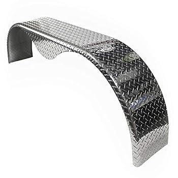 72x10-3/4 Aluminum Tread Plate Trailer Fender - Tandem Axle Teardrop  2-Pack