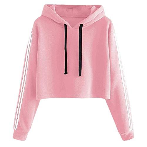 NP De las mujeres de encaje suelto suéter corto de lana de las, rosa, M