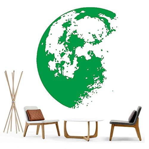 yiyiyaya Outdoor Space Moon Wandaufkleber Wohnkultur Moderne Vinyl Wandtattoo Dekoration Wandkunst Für Kinder Kindergarten Bedrom grün 42x54 cm