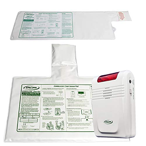 Fall Prevention Monitoring - Bed Alarm with Bed Sensor Pad, Chair Sensor Pad - Wireless & CordLess makes this system easy-to-use for the caregiver!rdLess makes this system easy-to-use for the caregiver!