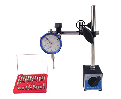 Magnetic Base with Fine Adjustment & SAE Dial Test Indicator & 22...