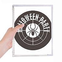 丸いハロウィンスパイダーパターン 硬質プラスチックルーズリーフノートノート