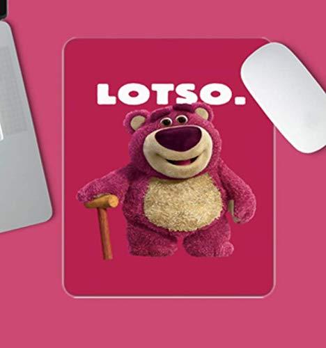 Gaming-Mauspad, Bärenjunges Mit Krücken, Einfacher Text Auf Festem Hintergrund, Verschleißfestes Gummi, Laptop-Gaming-Mauspad