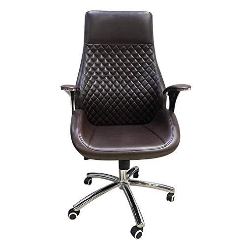 CENPEN Silla de oficina, silla de ordenador, soporte de cintura, silla de ingeniería, función de ajuste, silla giratoria, silla de estudio, silla de oficina, silla de ordenador (color: marrón, tamaño