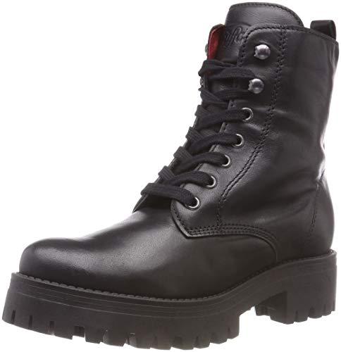 Buffalo Damen Shadow IBEROCRUST Leather Combat Boots, Schwarz (Black 01 00), 40 EU