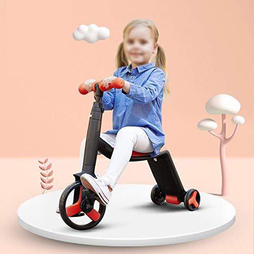 3 In 1 Roller Für Kinder 3 Wheel Kick Scooter Mit Sitz Perfekt Für Kleinkinder Mädchen Und Jungen Verstellbarer Griff Für Kinder Von 3 Bis 13 Jahren,Red